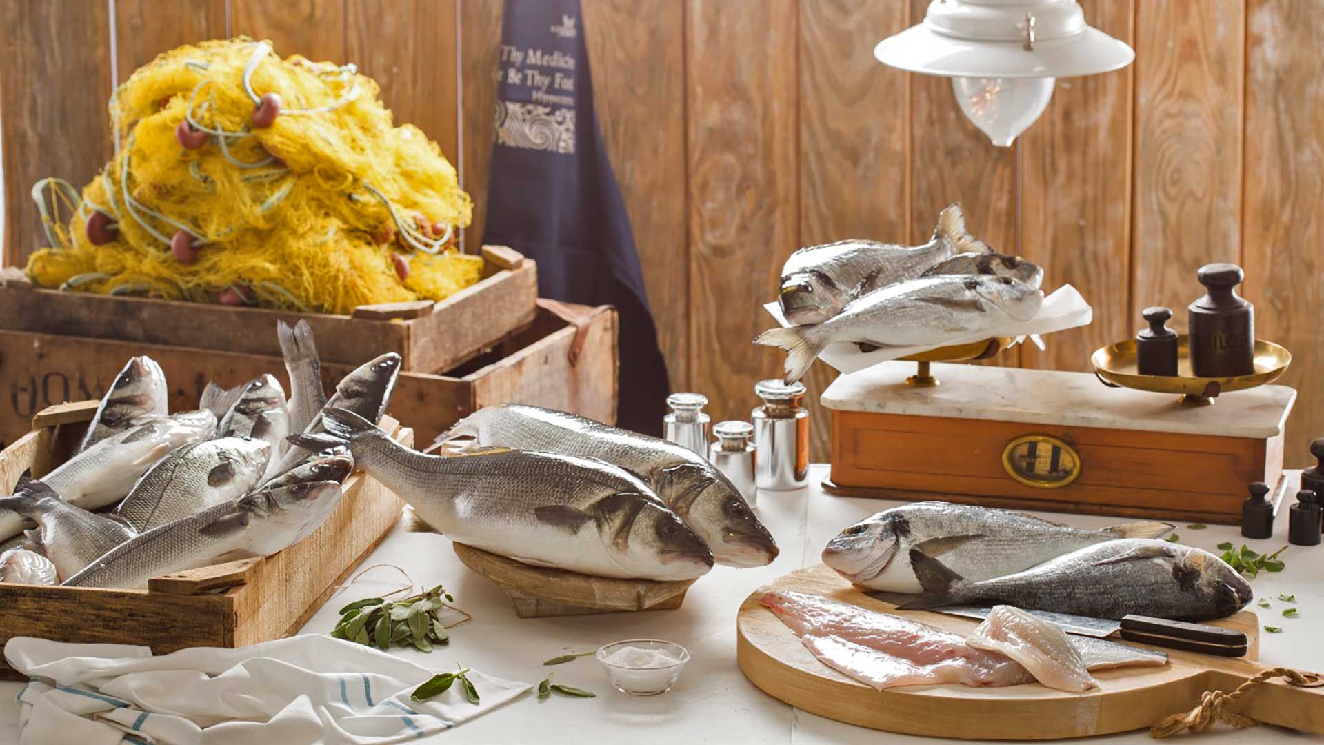 Kefalonia Fisheries / Seafood Products - Product categories Sea bass - sea bream - distribution